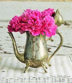 The Old Blue Bucket: Coffee, Tea or Peony!