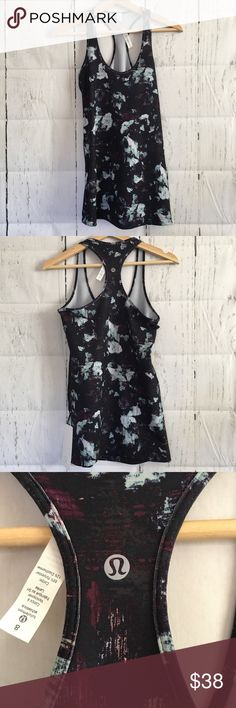 Lululemon athletic Cool Racerback Tank Top Size 8 NWT! Super cute print and comfortable! lululemon athletica Tops Tank Tops