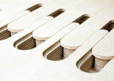 Uniones de madera con fresado en CNC.