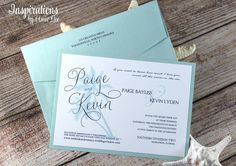 Your place to buy and sell all things handmade Destination Wedding Invitations, Unique Invitations, Beach Wedding Invitations, Invites, Mailing Envelopes, Addressing Envelopes, Ink Color, All Design, Card Stock