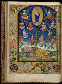 Flemish Psalter — Viewer — World Digital Library, the Tree of Jesse
