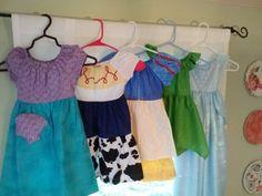 Educating Lovies: Homemade Princess Playwear for Disney World!