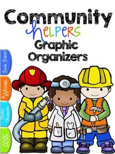 Community Helpers Free:  A Community Helpers Graphic Organizer Pack.  If you are teaching about communities and community workers, then this is the freebie for you!  Get thoughts organized onto these beautiful graphic organizers just for your classroom!  *****************************************************************************Community Helpers Unit and Close Read: Community Helpers Unit *****************************************************************************If you liked this…