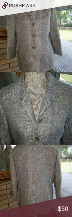 Fall jacket NWOT Perfect fall jacket, size is 10, fits like a large. Alfred Dunner Jackets & Coats Pea Coats