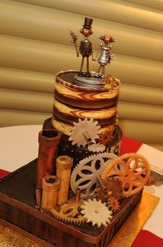 Masse's Pastries - Steampunk Wedding Cake.   This one is pretty great too....really, I'm not kidding.  I really love this one.