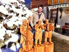 Sculptures made of wood by Karl Melchior Trummer