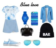 """Blue love <3"" by orosz-melissa on Polyvore"