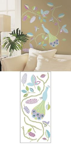 Urban Peacock Self-Stick Home Wall Art - Wall Sticker Outlet