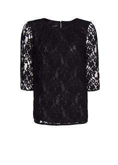 MANGO - Lace shirt
