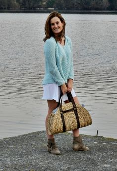 paseo por el rio !! #outfit  , zara in Sweaters, Zara in Dresses, blanco in Bags, zara in Ankle Boots / Booties