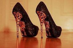 Crazy Shoes, Me Too Shoes, Stilettos, Sexy Heels, High Heels, Black Heels, Cheetah Print Heels, Leopard Shoes, Tiger Shoes