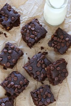 These gluten-free brownies are made with black beans and no butter!