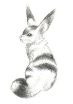 Fox squirrel Teto from Nausicaa. Someones supercute fanart I found on Deviantart.com.
