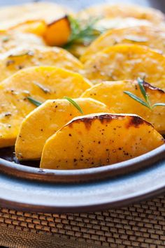 Roasted Butternut Squash with Fresh Rosemary, Honey and LIme. |www.flavourandsavour.com
