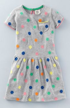 Mini Boden 'Multi Spotty' Knit Dress (Toddler Girls, Little Girls & Big Girls) available at #Nordstrom