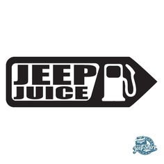 Decorate your rig with this Jeep Juice decal - a fun addition for any Jeep! Two sizes available.