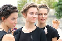 Models Jam,Models off-duty,streetstyle and candids from the main fashion weeks worldwide Milkmaid Braid, Plaits, Fishtail, Blonde Braids, Models Off Duty, French Braid, Braided Hairstyles, Hair Makeup, Hair Beauty