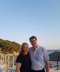 With hubbie in Halkidiki 2017