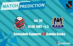 Consadole Sapporo vs Gamba Osaka