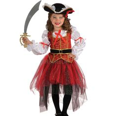 Child's Fairy Pirate Corsair Cosplay Apparel Fancy Role Play Dresses Clothing Festival Theme Party Dancewear