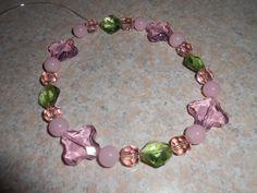 Handmade glass bead dog necklace