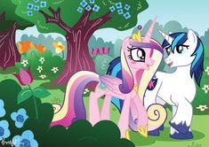 Princess Cadance and Shining Armor by SakuraKaijuu.deviantart.com on @deviantART