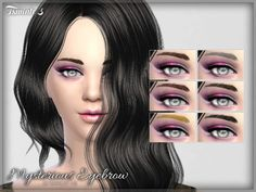 The Sims Resource: Mysterious Eyebrow  by tsminh_3 • Sims 4 Downloads