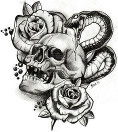 Snake and Skull design.