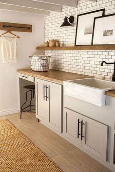 06 Best Modern Farmhouse Laundry Room Decor Ideas