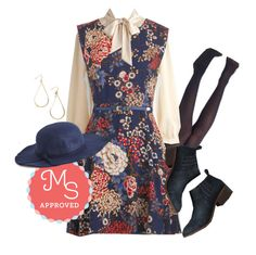 """""""Twilight on the Terrace Dress"""" by modcloth ❤ liked on Polyvore featuring BC Footwear"""