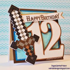 Sabriolet Designs: A Minecraft Birthday Minecraft Cards, Minecraft Birthday Invitations, Minecraft Skins, Homemade Birthday Cards, Birthday Cards For Boys, Homemade Cards, Boy Cards, Kids Cards, Scrapbooking