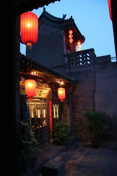 A courtyard next to a terrace house in the ancient city Pingyao, Shanxi Province