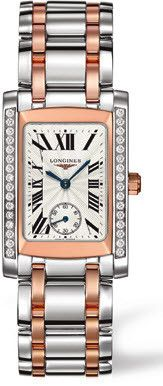 Longines Watch DolceVita Ladies #bezel-diamond #bracelet-strap-rose-gold #brand-longines #buckle-type-deployment #case-depth-8mm #case-material-pink-rose-gold #case-width-22-4-x-26-85mm #delivery-timescale-1-2-weeks #dial-colour-silver #gender-ladies #luxury #movement-quartz-battery #official-stockist-for-longines-watches #packaging-longines-watch-packaging #sku-lng-166 #subcat-dolcevita #supplier-model-no-l5-502-5-79-7 #warranty-longines-official-2-year-guarantee #water-resistant-30m