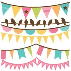Spring Banners: Miss Kate Cuttables-- SVG files for scrapbooking banner svg files banner svgs banner svg cut files free svgs Silhouette Cameo Projects, Silhouette Design, Stencil, Spring Banner, Cute Clipart, Digital Scrapbook Paper, Silhouette Portrait, Vinyl Projects, Planner Stickers