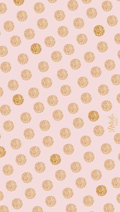 Pink and gold dots iPhone wallpaper