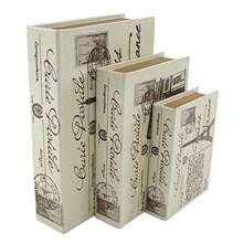 Paris Faux Book Box - Set of 3