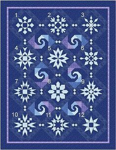 New Quilt PATTERN ~ Snow Stormy Night Blocks 1-12 ~ READ DESCRIPTION