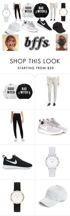"""""""(#1 BFF Looks)BFF LAZY DAY"""" by arianaxmilano on Polyvore featuring Project Social T, Calvin Klein, NIKE, Abbott Lyon and rag & bone"""