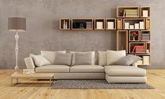 Szare ściany w salonie są:
