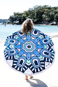 complete your babin' beach look with the ultimate summer necessity, the round towel! yep, you read right - a round towel! made in a soft cotton. slip into your...