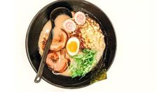 Inside this bowl is a house made black garlic oil, creamy pork broth, house-made pork belly with a slow cooked egg, and then, the surprise crunch of corn Garlic Uses, Garlic Oil, Black Garlic, How To Cook Eggs, House Made, Pork Belly, Slow Cooker, Breakfast
