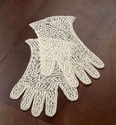 Gloves made from Idrija Lace: The beginning of lacemaking in Slovenia dates back to the 16th century & it was an art handed down from generation to generation.