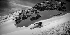B&W Powder Skiing #2 by Christoph Oberschneider on 500px
