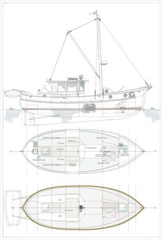 An Old Photograph Inspired This Double-Ender Design - Soundings Online Speed Boats, Power Boats, Tug Jobs, Motor Cruiser, Glass Boat, Old Commercials, Wooden Boat Building, Best Boats, Wood