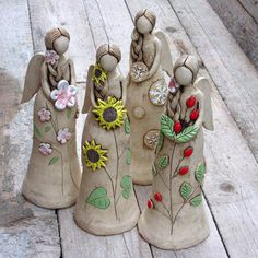 Sculpture Art, Sculptures, Clay Angel, Pottery Angels, Clay Figures, Salt Dough, Air Dry Clay, Clay Crafts, Clay Art