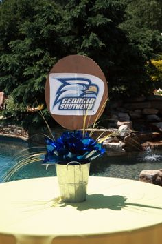 Georgia Southern Centerpieces - By The Party Girl Events