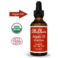 Virgin Argan Oil - Facial Moisturizer - 100% Pure Moroccan Argan Oil for Hair, Best Anti-aging Moisturizer - Hair Treatment Oil Repairs Hair, Restores Shine - Argan Oil Organic Certification By Ecocert and USDA - Natural Skin Care Product for Men and Women - Beard Oil - Cutical Softener, Nail Strengthener - 2 Oz Bottle - Satisfaction Guaranteed *** Check out this great product.
