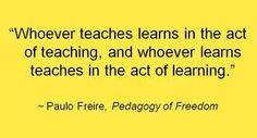Todos aprendemos y enseñamos en un mismo acto.