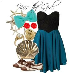 Disneybound Kiss the Girl - Ariel. I cannot believe how much these look like the characters!