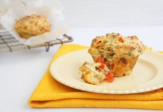 Savoury Muffins - A tasty snack, my kids love them, I make mini ones for their lunch box. Lunch Box Recipes, Lunch Snacks, Tea Recipes, Easy Snacks, Yummy Snacks, Brunch Recipes, Breakfast Recipes, Cooking Recipes, Lunches